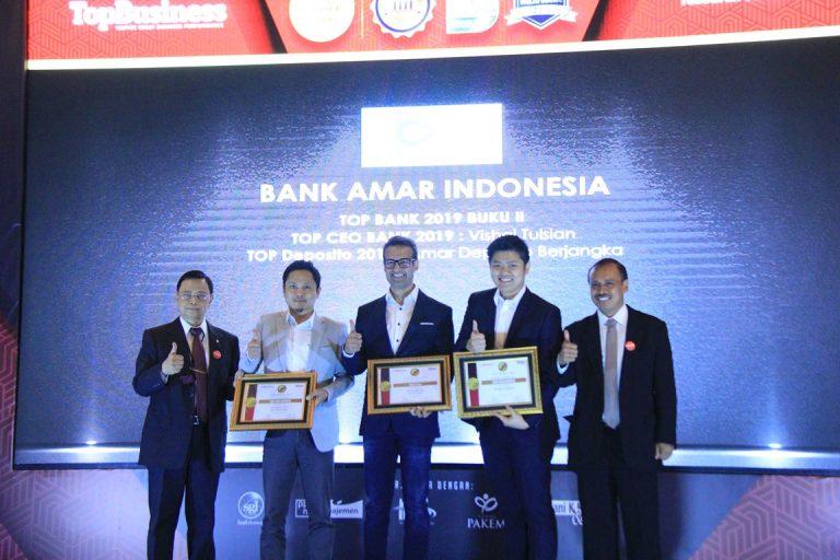 Amar Bank Terima Penghargaan Top Finance 2019 untuk Tiga ...